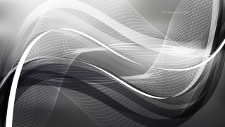 Abstract Dark Grey Wavy Lines Background