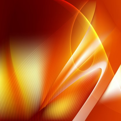 Dark Orange Flowing Lines Background