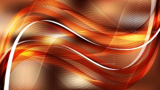 Dark Orange Curved Lines Background