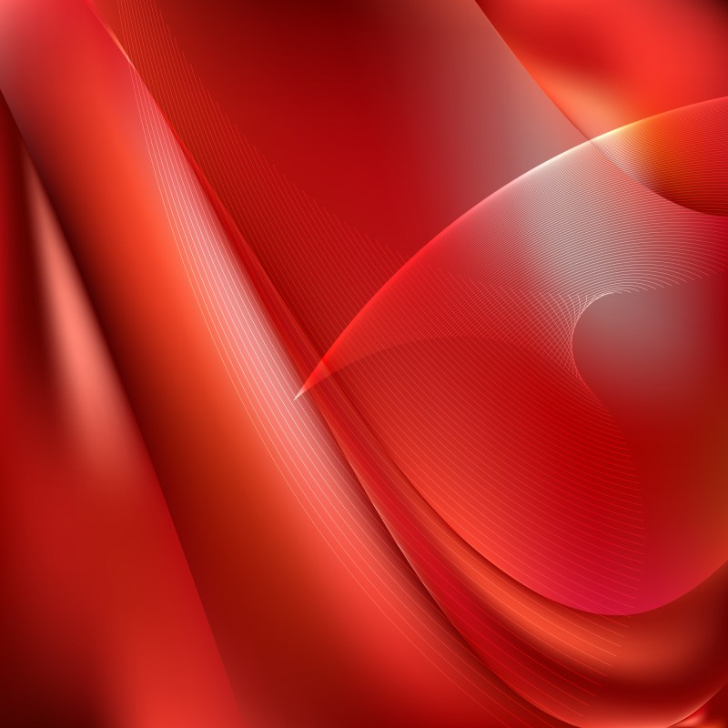 Abstract Dark Red Flow Curves Background