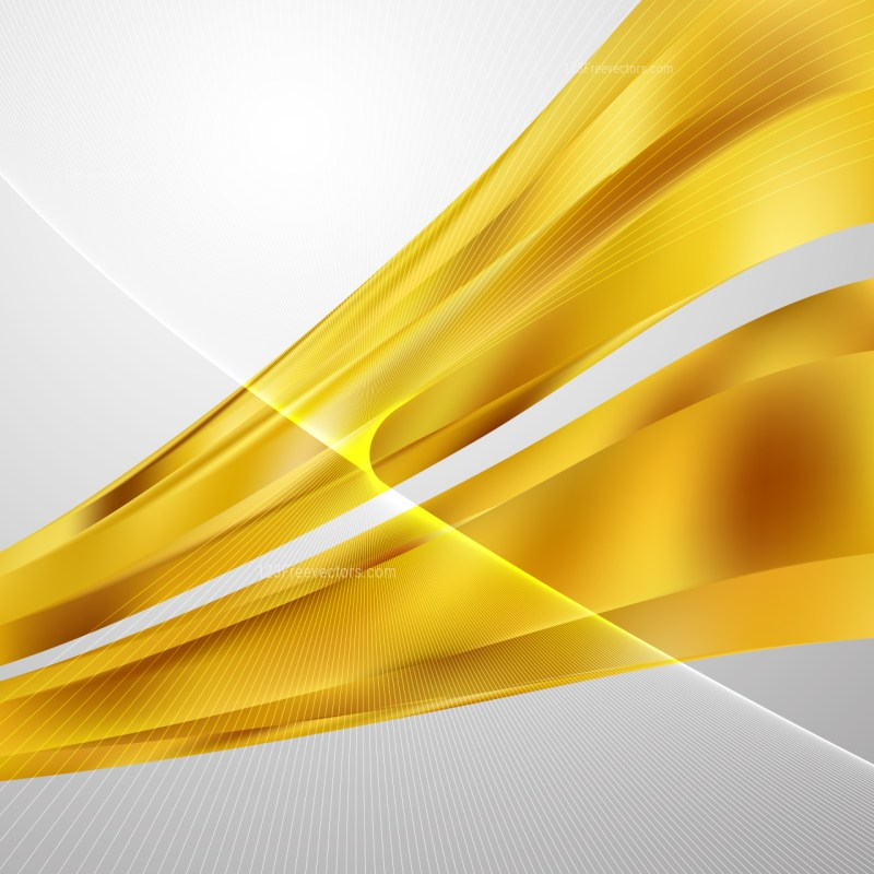 Gold Wavy Lines Background