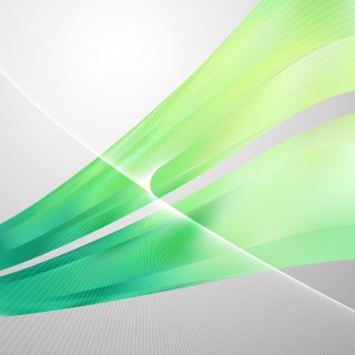 Green Wavy Lines Background