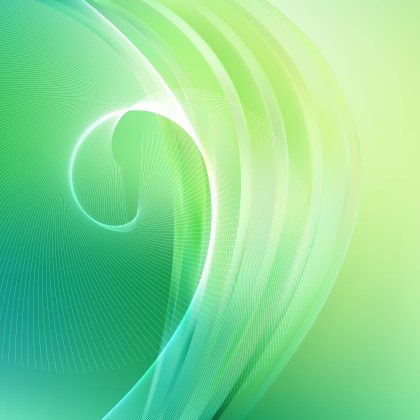 Green Wave Lines Background Design Template