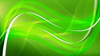 Abstract Green Flow Curves Background Vector Image