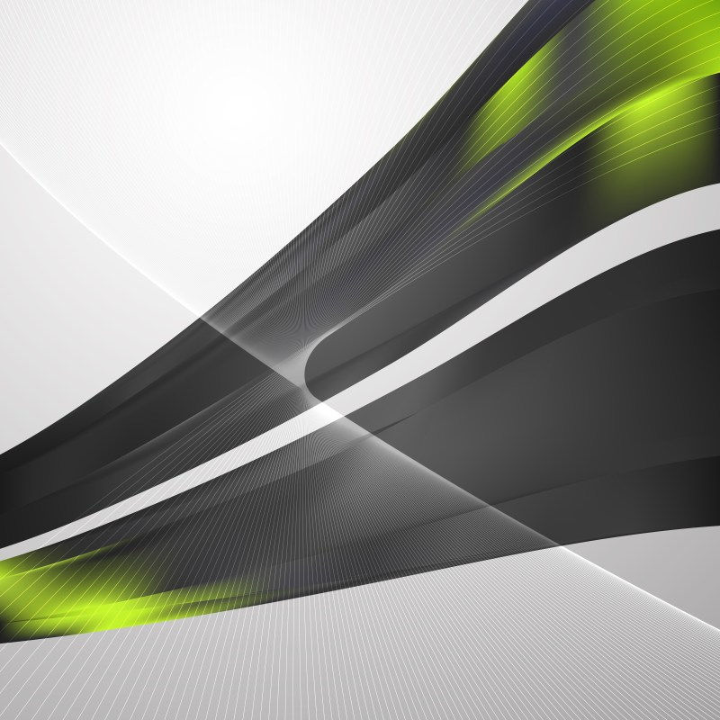 Abstract Green and Black Flow Curves Background