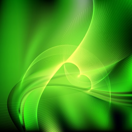 Green and Black Flowing Curves Background Vector Graphic