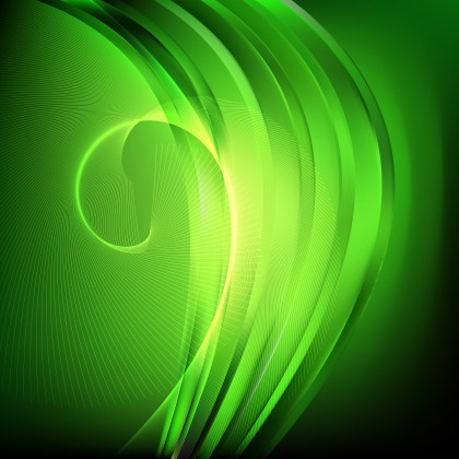 Abstract Green and Black Wavy Lines Background Template