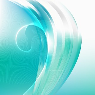 Abstract Green and White Flow Curves Background