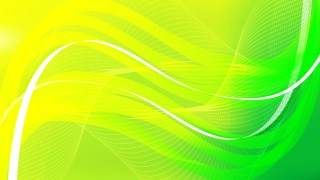 Abstract Green and Yellow Wave Lines Background Design Template
