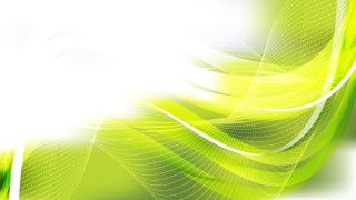 Green Yellow and White Flowing Curves Background