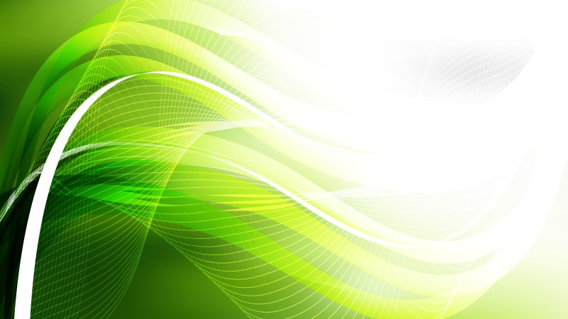 Abstract Green Yellow and White Flow Curves Background