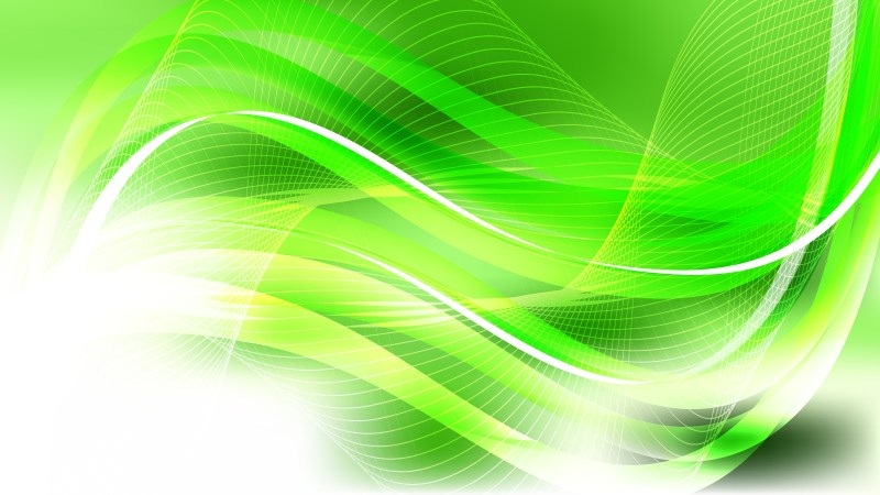 Abstract Green Yellow and White Flowing Lines Background