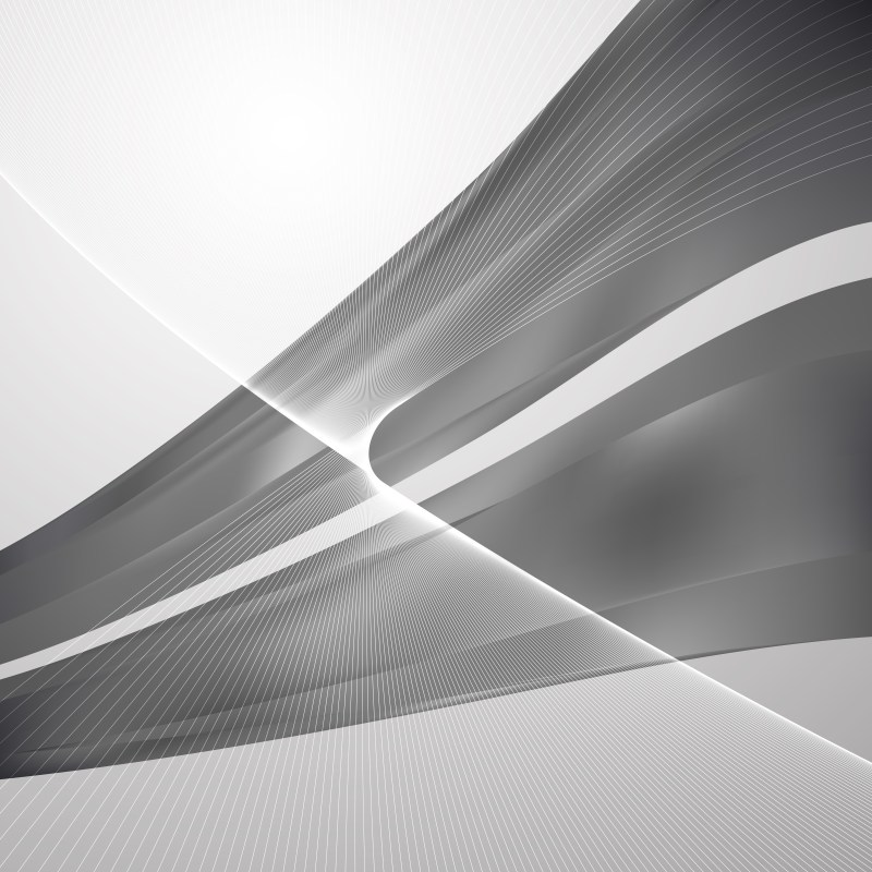 Abstract Grey Flowing Curves Background