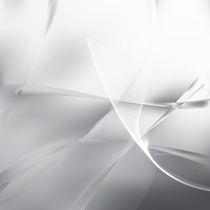 Abstract Grey and White Flowing Curves Background Vector Graphic