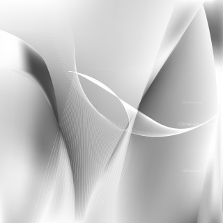 Abstract Grey and White Flow Curves Background Vector Image