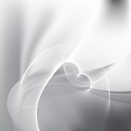 Grey and White Flowing Curves Background