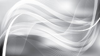 Grey and White Flowing Lines Background