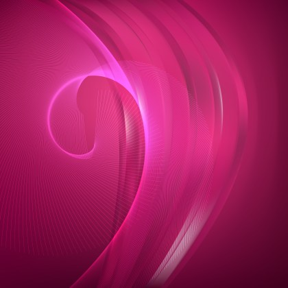 Hot Pink Flowing Lines Background Illustrator