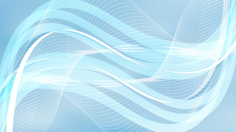 Light Blue Flowing Lines Background