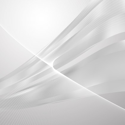 Abstract Light Grey Flow Curves Background Vector Image