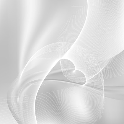 Abstract Light Grey Wave Lines Background