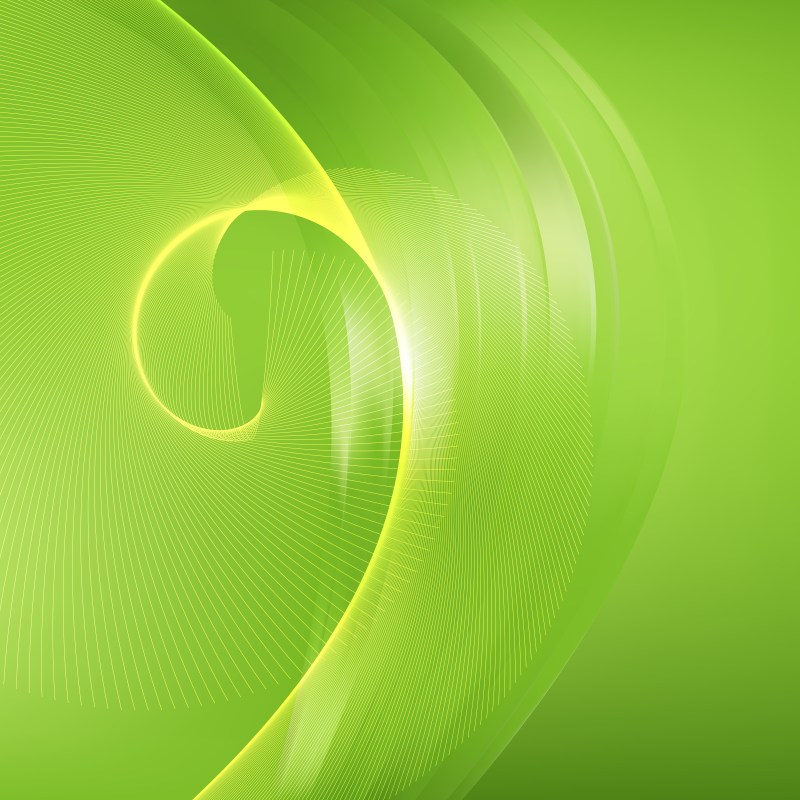 Abstract Lime Green Flowing Curves Background