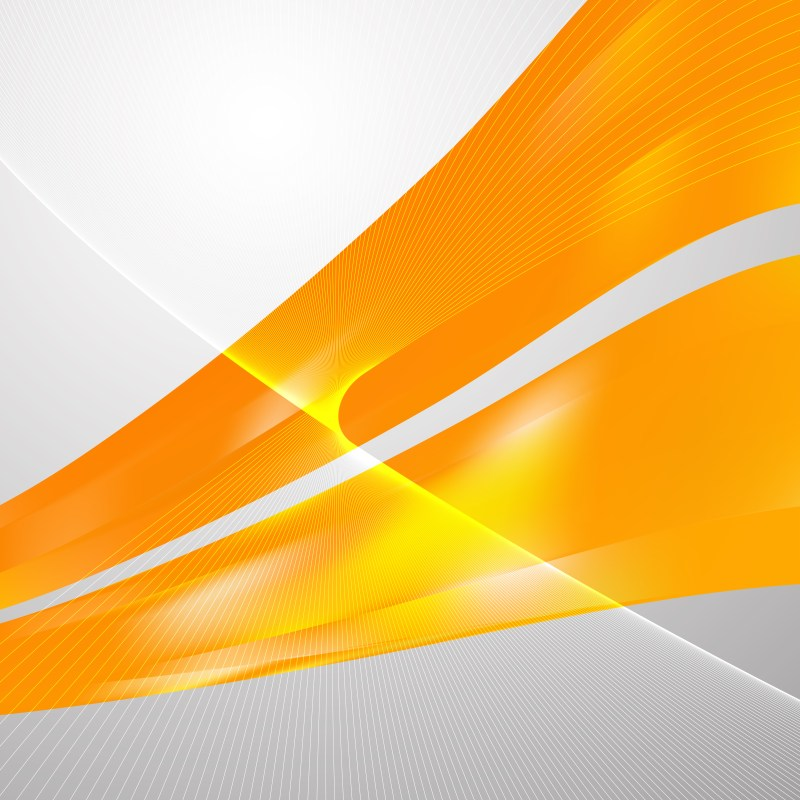 Abstract Orange Curved Lines Background