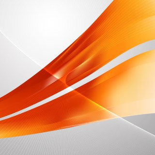 Abstract Orange Wavy Lines Background