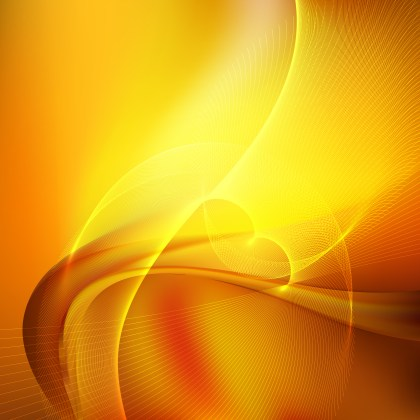 Abstract Orange Wave Lines Background Design Template