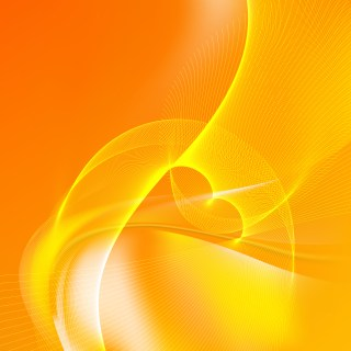 Orange Flow Curves Background