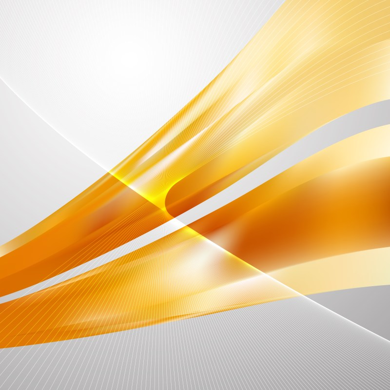 Abstract Orange Wavy Lines Background Template