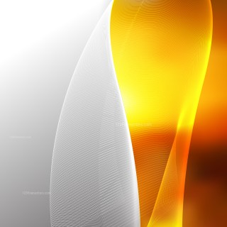 Abstract Orange Flowing Curves Background