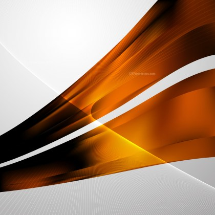 Orange and Black Flowing Lines Background