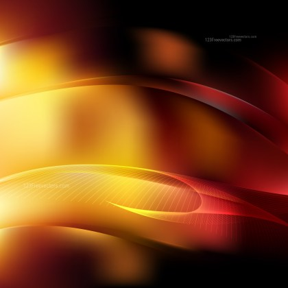 Abstract Orange and Black Flow Curves Background