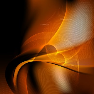 Orange and Black Flow Curves Background Vector Image