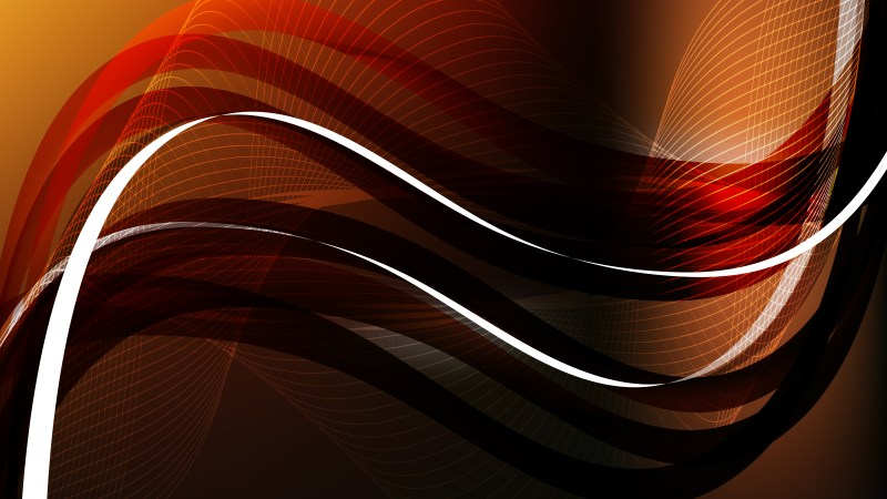 Orange and Black Flowing Lines Background Illustrator