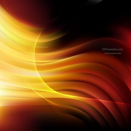 Orange and Black Wavy Lines Background