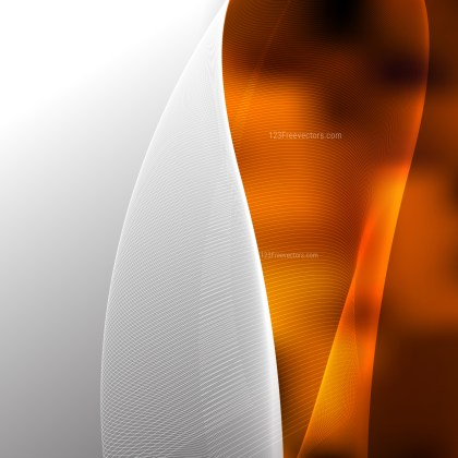 Abstract Orange and Black Wave Lines Background