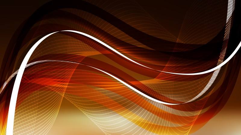 Orange and Black Wave Lines Background