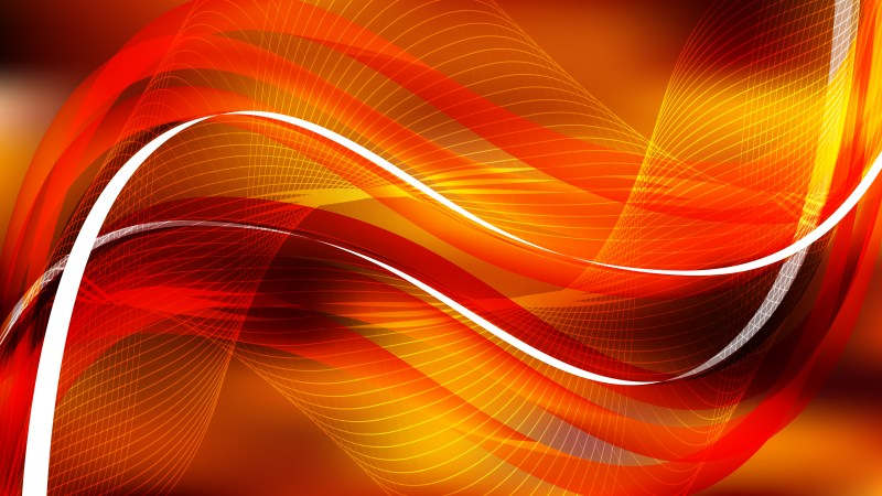 Abstract Orange and Black Wave Lines Background Design Template