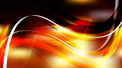 Abstract Orange and Black Curved Lines Background