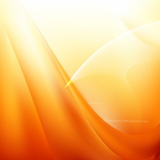Abstract Orange and White Flowing Curves Background Vector Graphic
