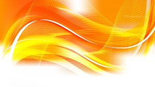 Abstract Orange and White Flowing Lines Background