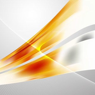 Abstract Orange and White Wave Lines Background