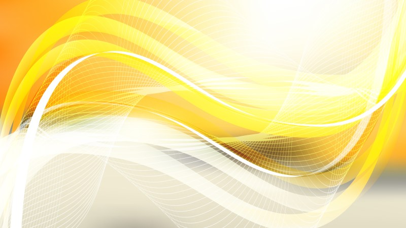 Abstract Orange and White Wave Lines Background Design Template
