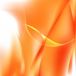 Orange and White Flowing Lines Background