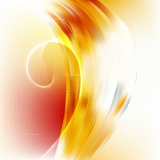 Orange and White Curved Lines Background