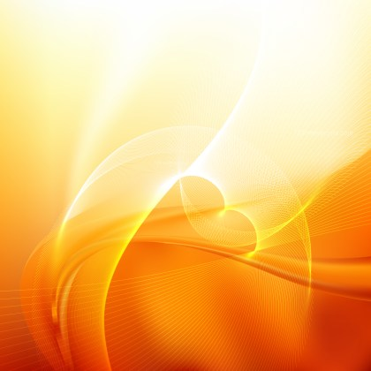 Orange and White Flowing Lines Background Illustrator