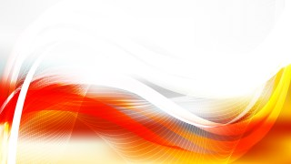 Orange and White Flowing Curves Background Vector Graphic