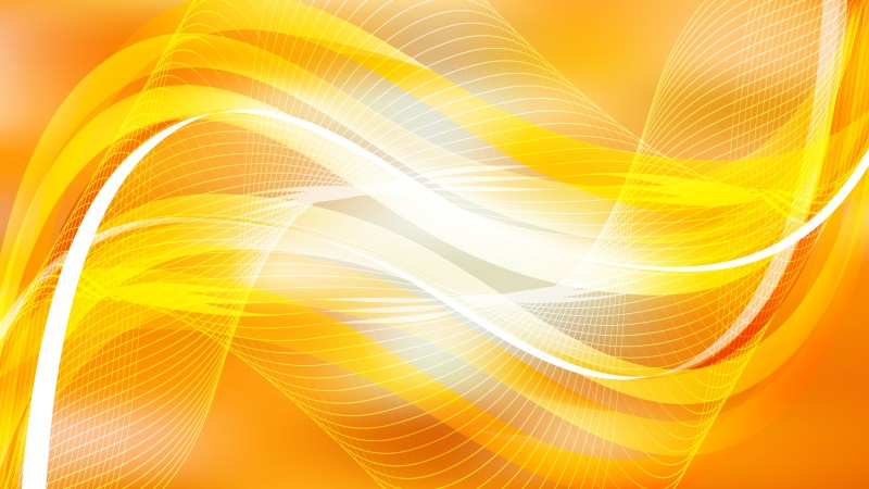 Abstract Orange and White Flowing Lines Background Illustrator